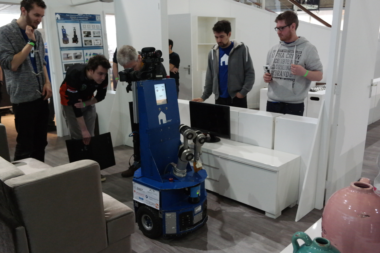 Robot inspection: The referees checking the basic functionality