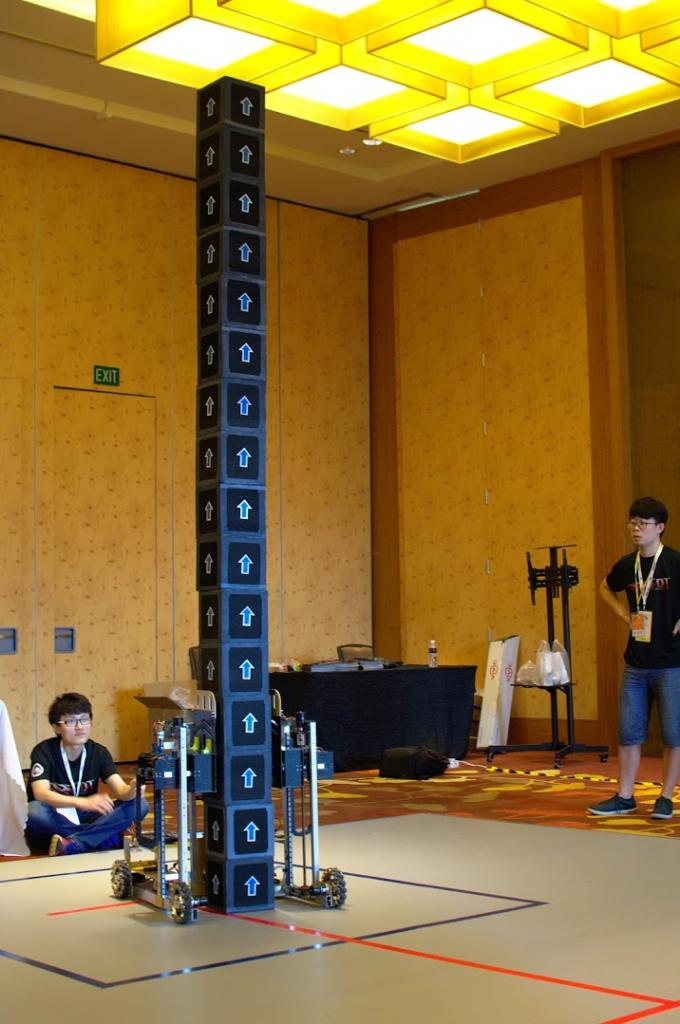A Chinese team with their well engineered robot achieved to stack 3.2m. Wow!