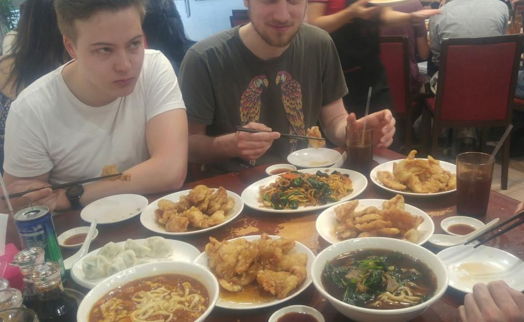 A full table of food. Much more then we expected. But all of it was delicious