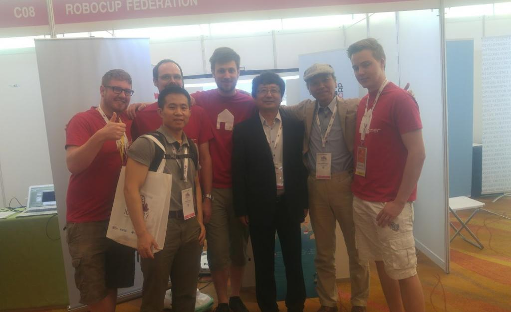 Us with the founder and the current vice president of the RoboCup Federation