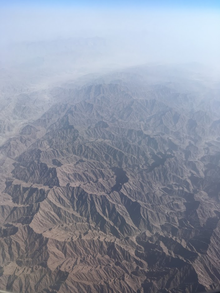 Flight impressions, from somewhere over the dessert