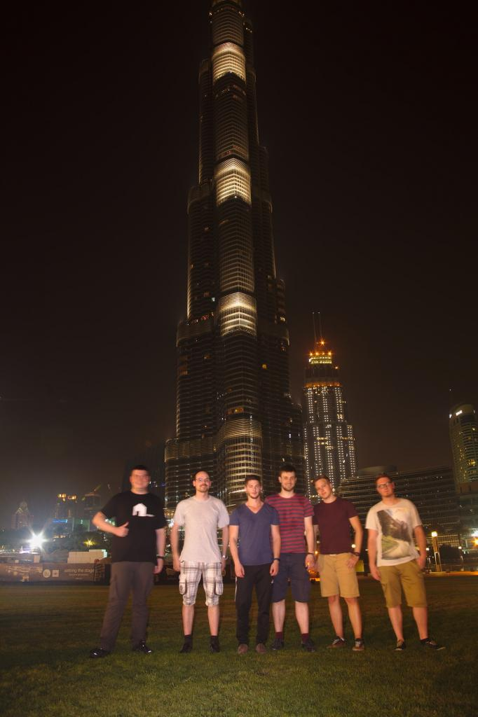 This is the team, fully exhausted by night in Dubai