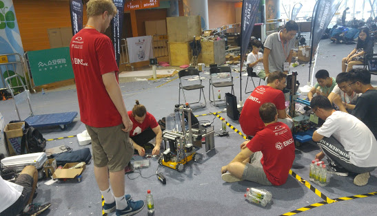 Our working area in between other teams of the technical challenge