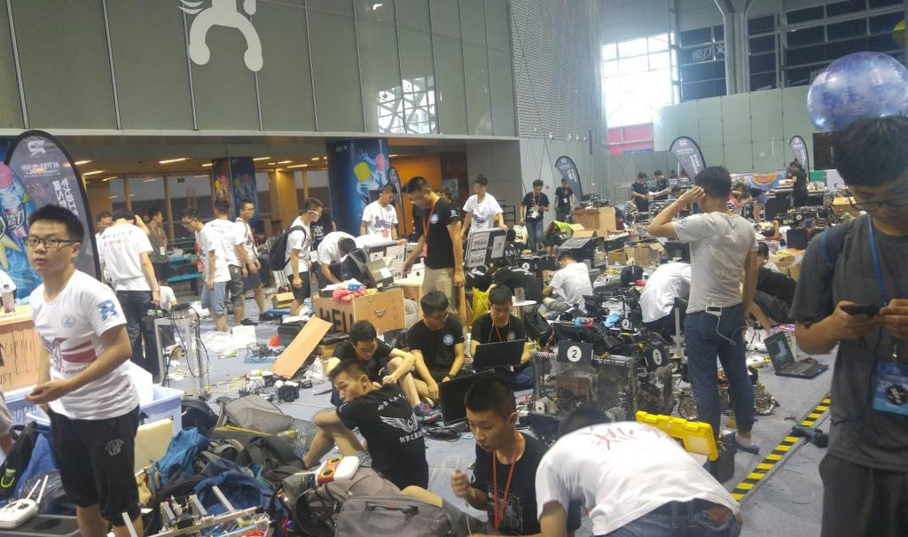 This was the team area. Looks like a mess :) There was no time for tidiness, just for work and testing. People were sleeping on the floor. Everywhere robots, robot parts and tools. In between people, food and drinks. No everyone would feel at home here, but we did