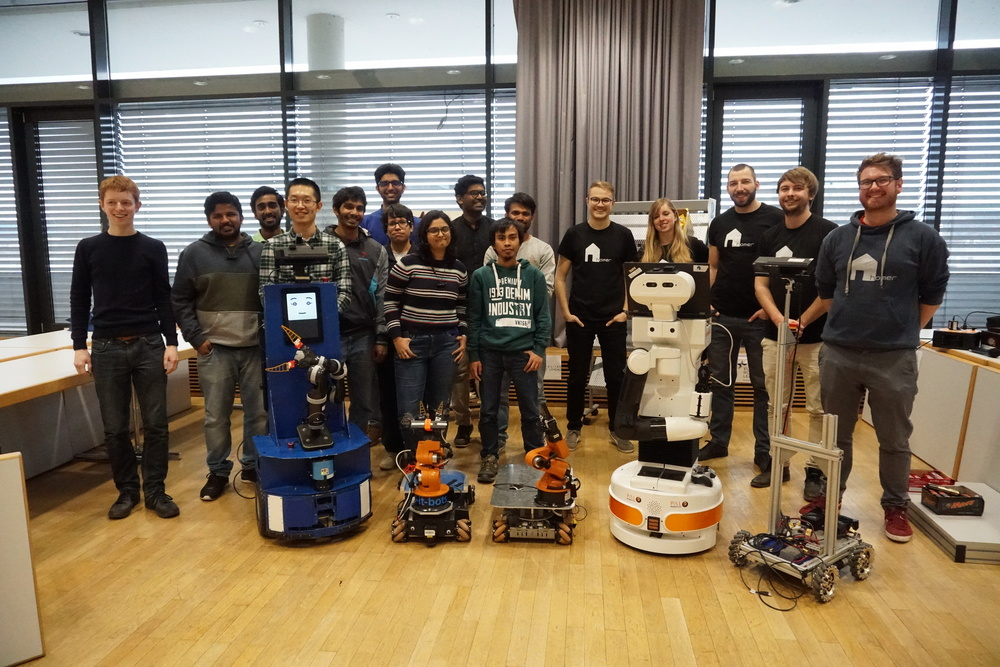 All participants and our robots together